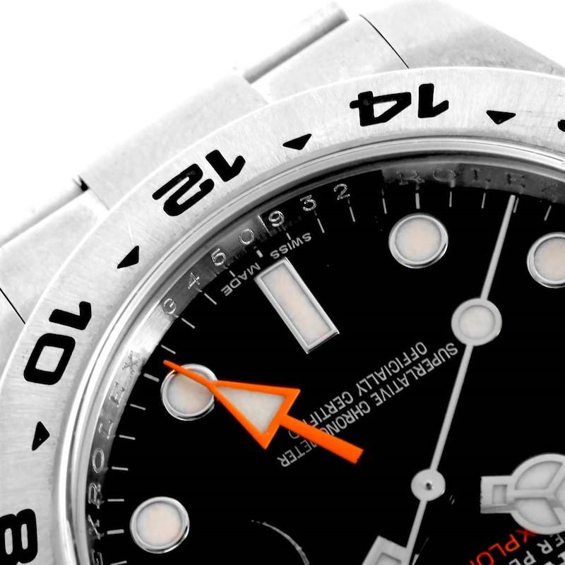 Rolex Explorer II Black Dial Automatic Steel Mens Watch 216570 SwissWatchExpo