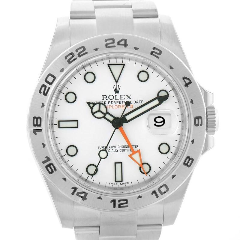 Rolex Explorer II Automatic White Dial Watch 216570 Box Papers Unworn SwissWatchExpo