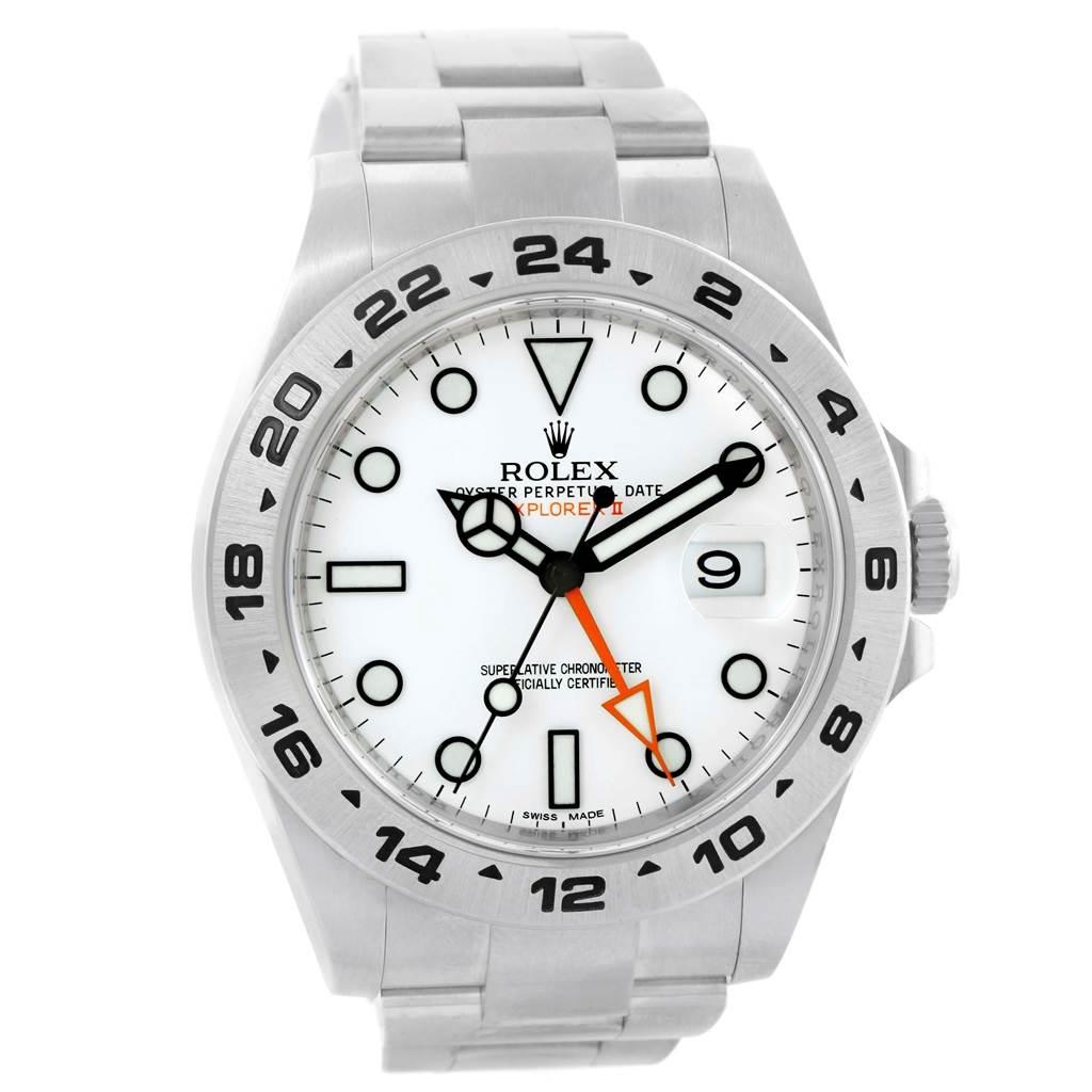 eabbd65d4c0 ... 16411a Rolex Explorer II 42mm White Dial Steel Mens Watch 216570  SwissWatchExpo ...