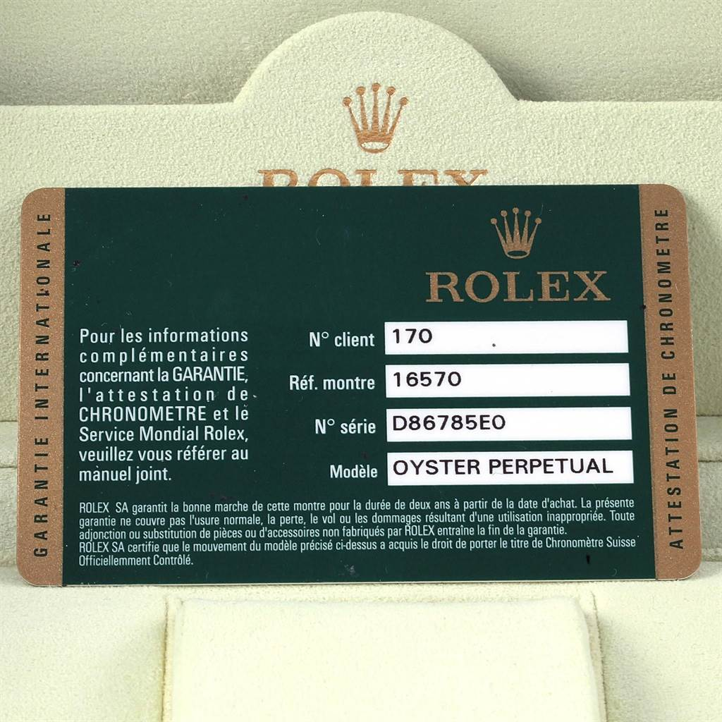 Rolex Explorer II Parachrom Hairspring Mens Watch 16570 Box Card SwissWatchExpo