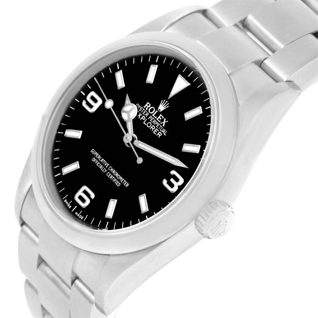 Rolex Explorer I Black Dial Automatic Steel Mens Watch 114270 SwissWatchExpo