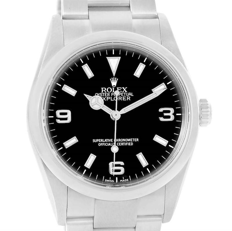 Rolex Explorer I Black Dial Automatic Steel Mens Watch 114270 SwissWatchExpo