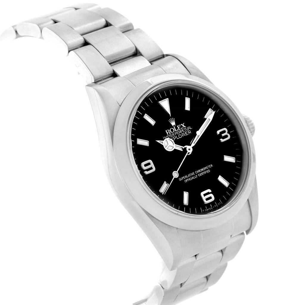 Rolex Explorer I Black Dial Automatic Steel Mens Watch 14270 SwissWatchExpo