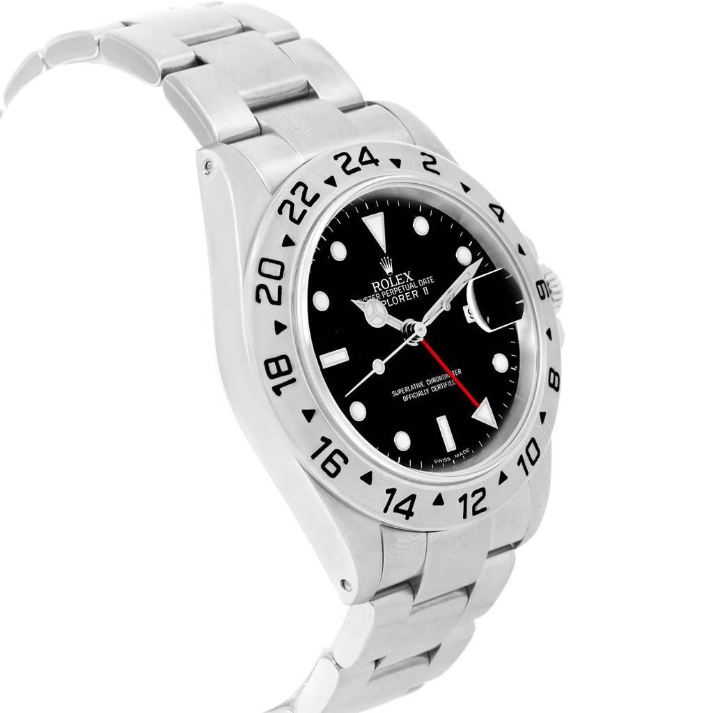 Rolex Explorer II Black Dial Stainless Steel 40mm Mens Watch 16570 SwissWatchExpo