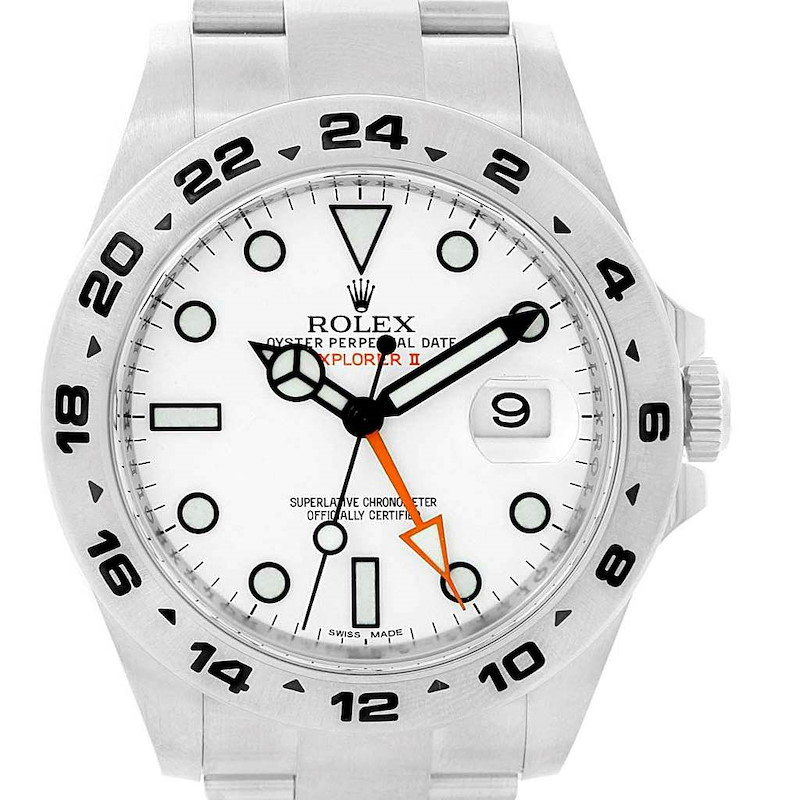 Rolex Explorer II 42 White Dial Automatic Steel Men's Watch 216570 SwissWatchExpo