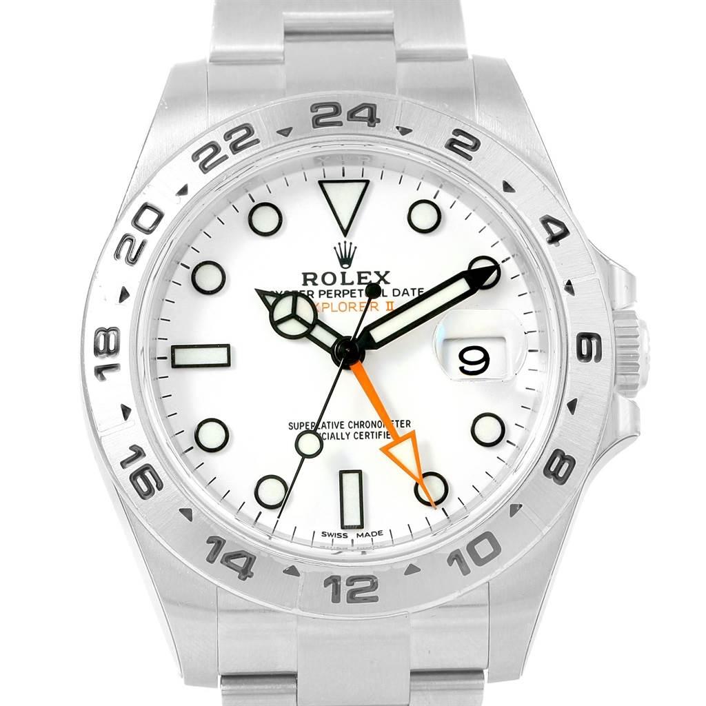 d6c0d28a2ab ... 17476 Rolex Explorer II White Dial Automatic Steel Mens Watch 216570  Unworn SwissWatchExpo ...