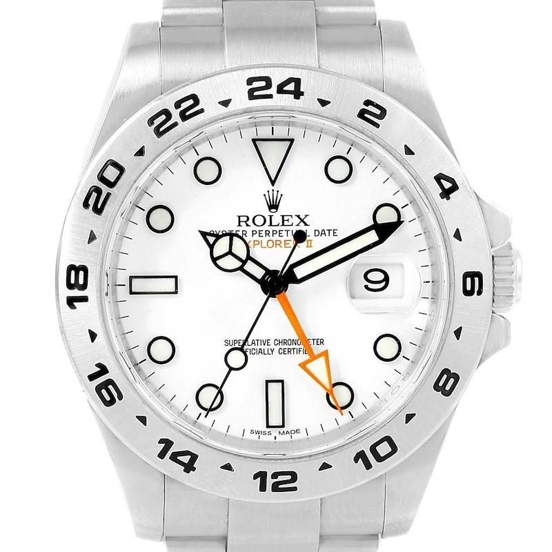 Rolex Explorer II 42 White Dial Automatic Steel Men's Watch 216570 SwissWatchExpo