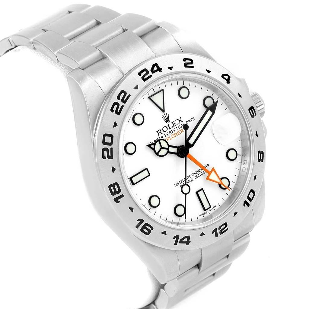 Rolex Explorer II 42mm White Dial Steel Mens Watch 216570 Box Papers SwissWatchExpo