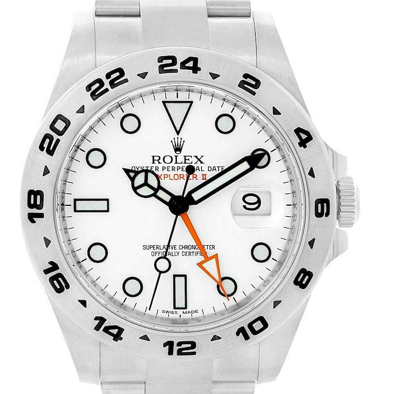 Rolex Explorer II 42 White Dial Oyster Bracelet Watch 216570 Box Card SwissWatchExpo