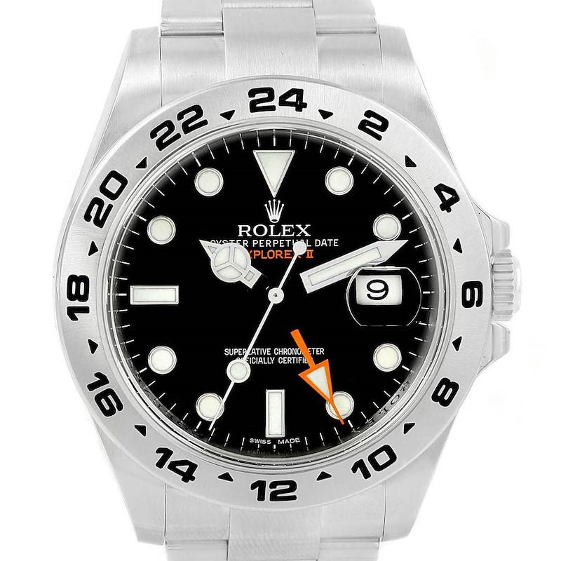 Rolex Explorer II 42mm Black Dial Steel Mens Watch 216570 Box SwissWatchExpo