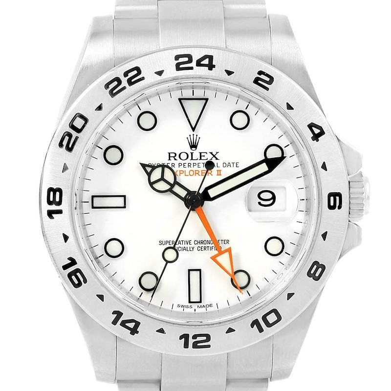 Rolex Explorer II 42 White Dial Automatic Mens Watch 216570 Box Papers SwissWatchExpo