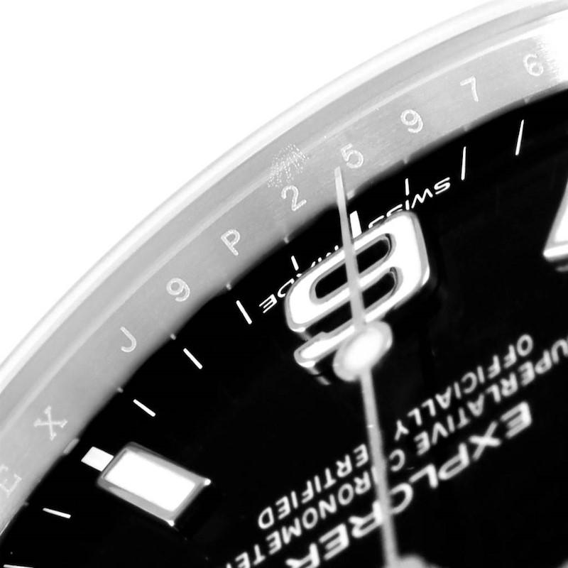Rolex Explorer I Steel Black Dial Mens Watch 214270 Box Card SwissWatchExpo