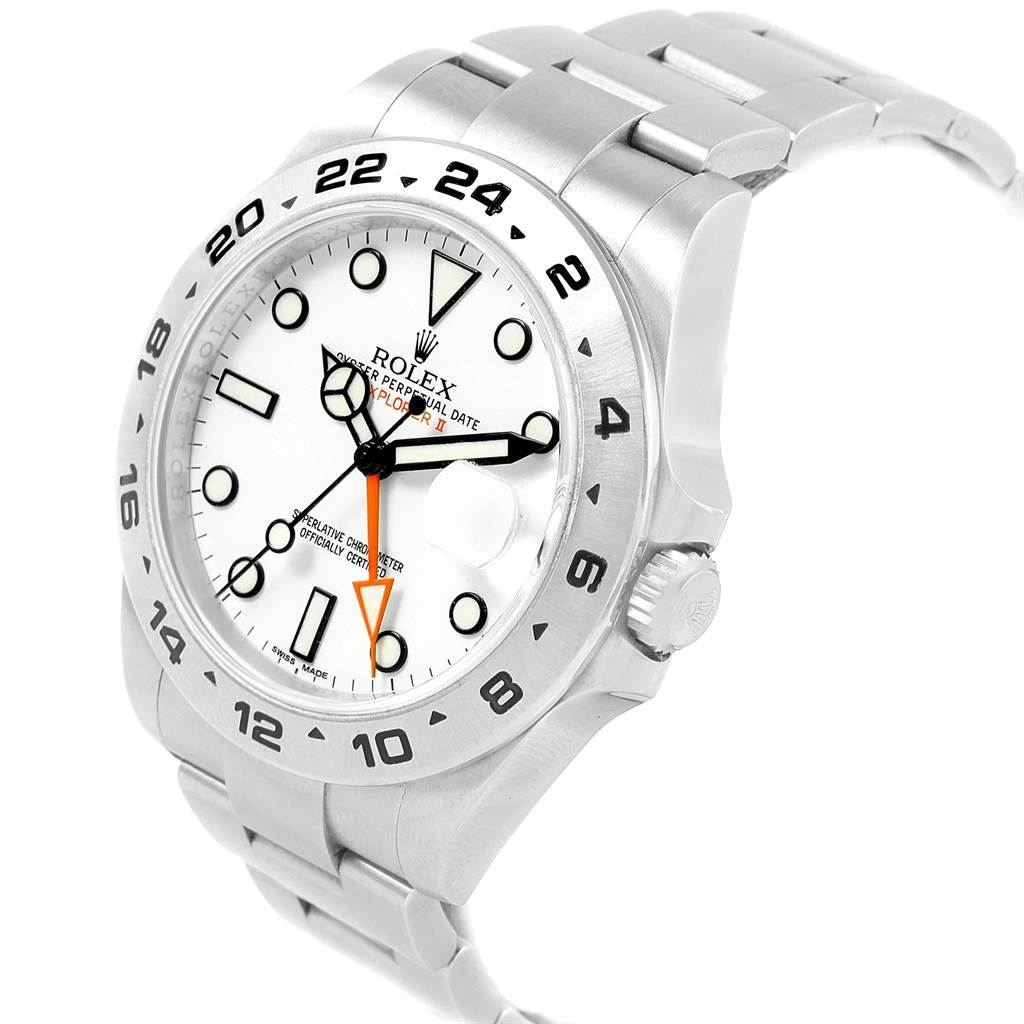 Rolex Explorer II 42mm White Dial Automatic Mens Watch 216570 Box Papers SwissWatchExpo
