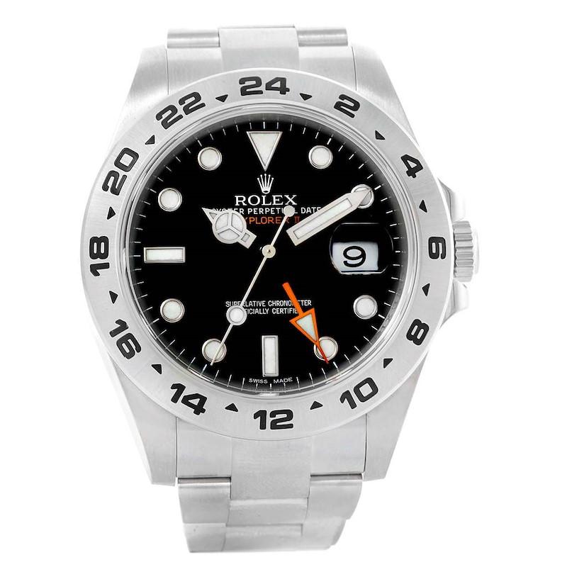 Rolex Explorer II Black Dial Steel Mens Watch 216570 Box Card SwissWatchExpo