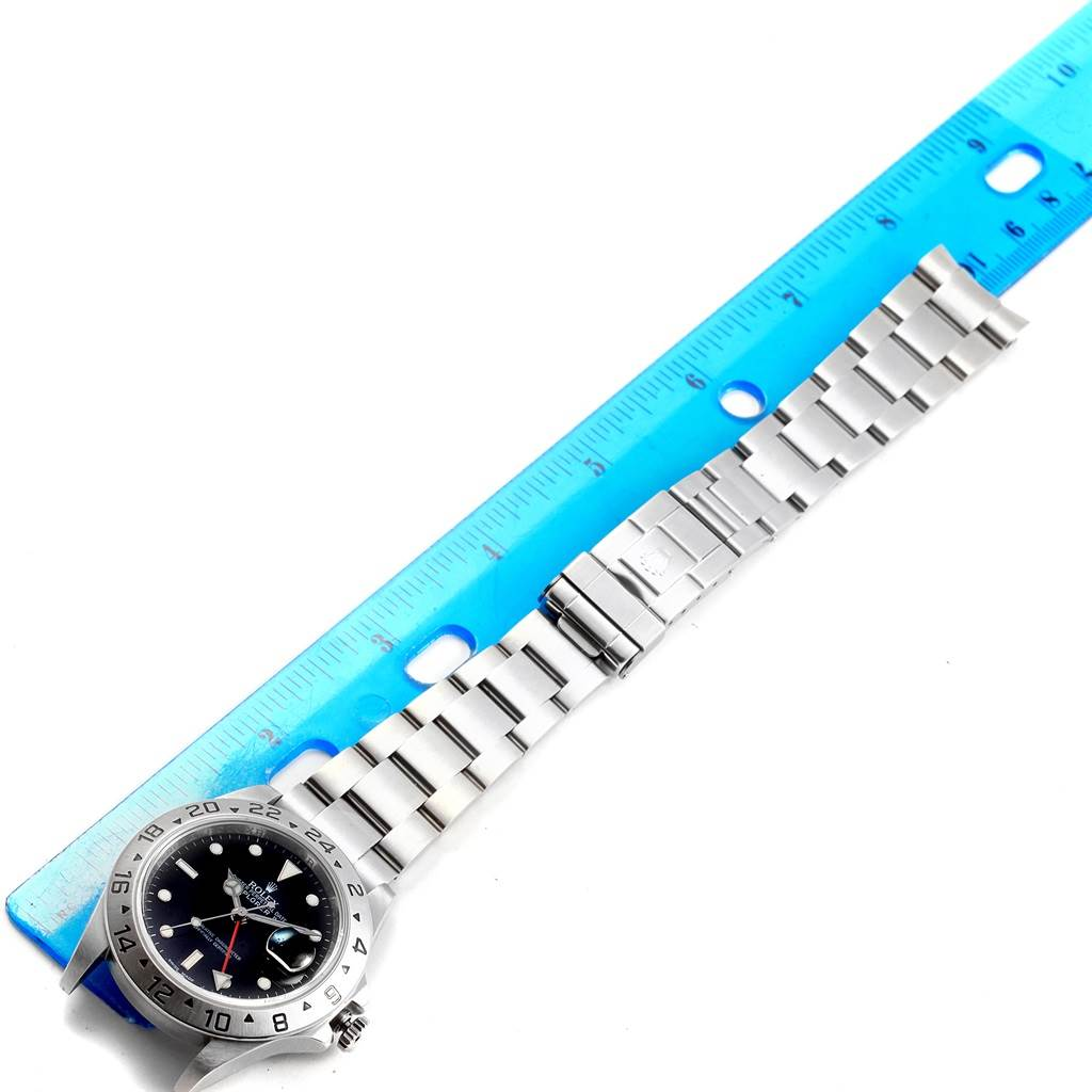 18141 Rolex Explorer II Black Dial Parachrom Hairspring Watch 16570 Box SwissWatchExpo