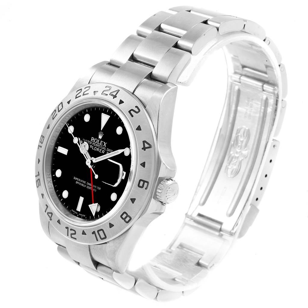 Rolex Explorer II Black Dial Parachrom Hairspring Watch 16570 Box SwissWatchExpo