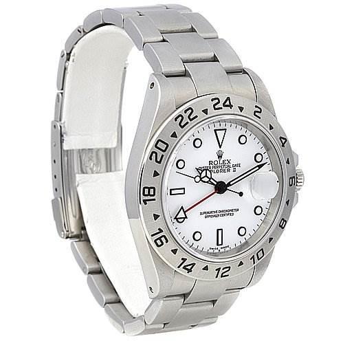 Rolex Explorer Ii 16570 Mens Ss White Dial Watch SwissWatchExpo
