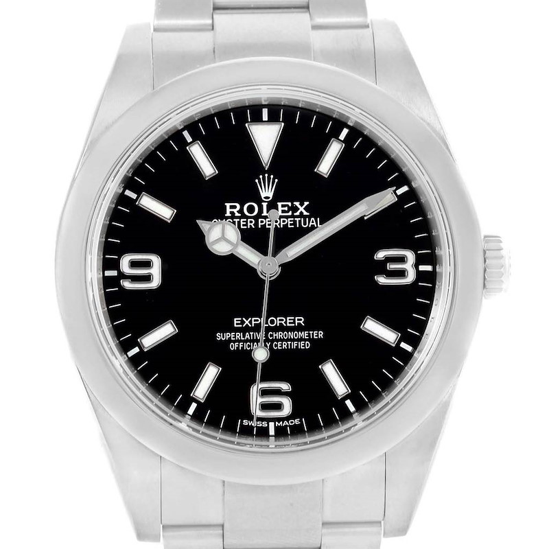 Rolex Explorer I 39 Black Dial Automatic Mens Watch 214270 SwissWatchExpo