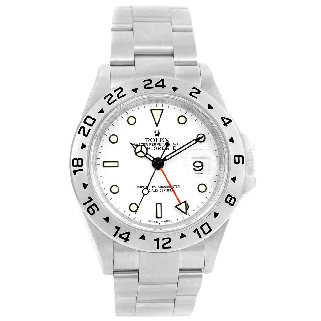 d7dff8a46ea ... 18407 Rolex Explorer II Parachrom Hairspring White Dial Mens Watch 16570  SwissWatchExpo ...