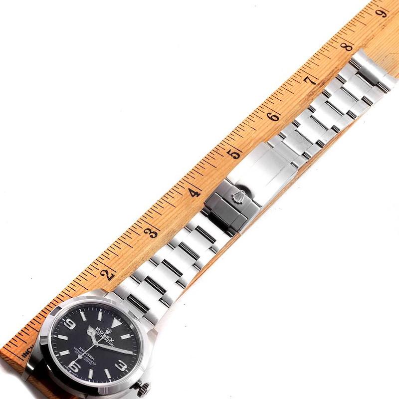 Rolex Explorer I 39 Luminescent Arabic Numerals Steel Mens Watch 214270 SwissWatchExpo