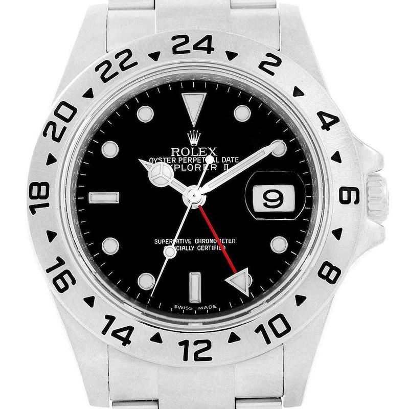 Rolex Explorer II 40 Parachrom Hairspring Steel Mens Watch 16570 SwissWatchExpo