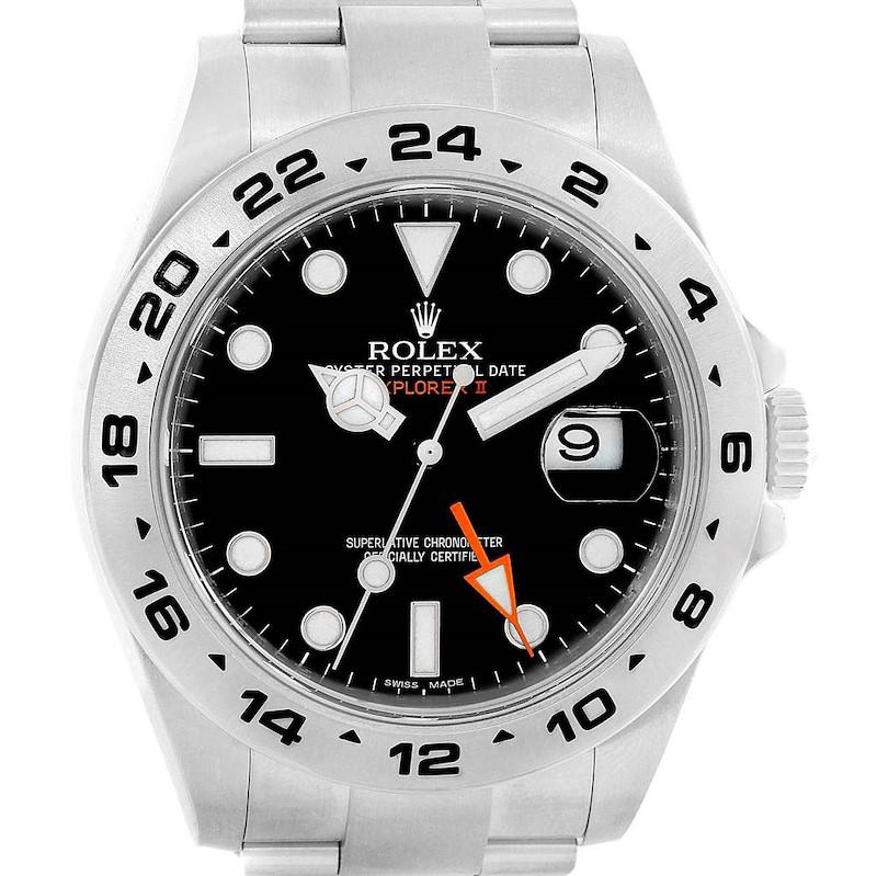 Rolex Explorer II 42mm Black Dial Automatic Mens Watch 216570 Box SwissWatchExpo