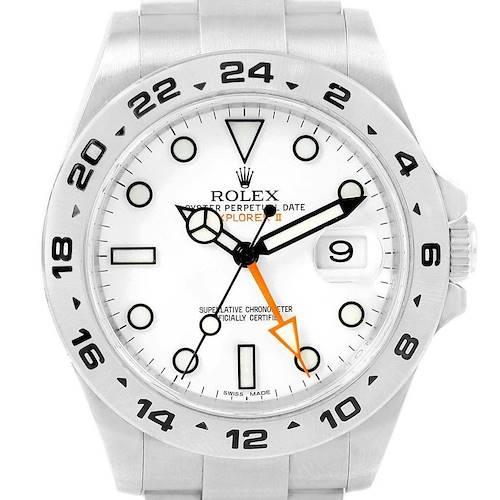 Photo of Rolex Explorer II 42 White Dial Automatic Steel Men's Watch 216570