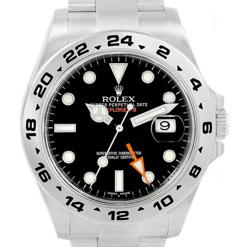 Rolex Explorer II 42mm Black Dial Steel Mens Watch 216570 Box Papers SwissWatchExpo