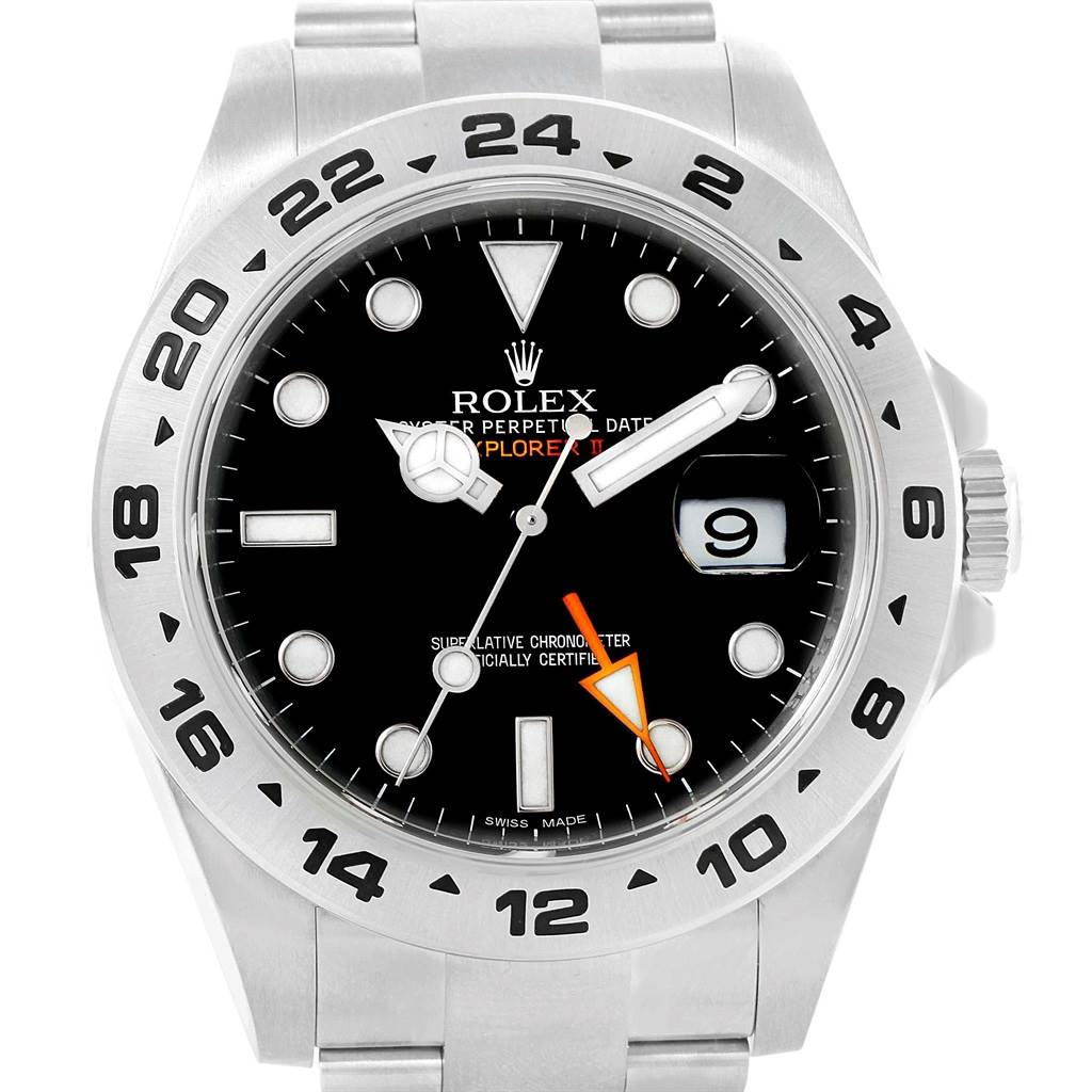 Rolex Explorer II 42mm Black Dial Automatic Mens Watch 216570 Box SwissWatchExpo