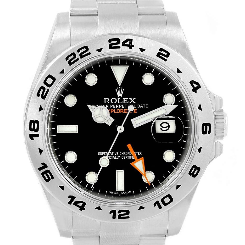 Rolex Explorer II 42mm Black Dial Steel Mens Watch 216570 Box Card SwissWatchExpo