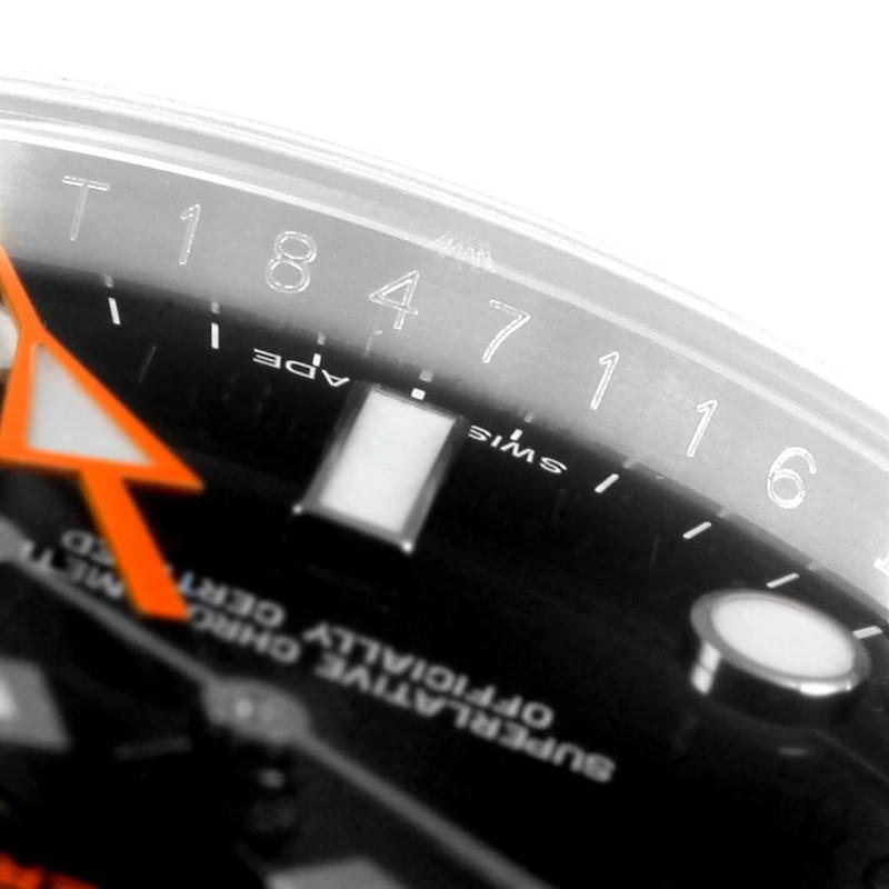 Rolex Explorer II 42 Orange Hand Black Dial Mens Watch 216570 SwissWatchExpo