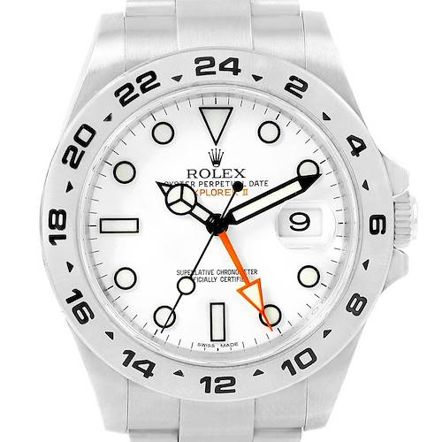 Photo of Rolex Explorer II 42 White Dial Orange Hand Steel Men's Watch 216570