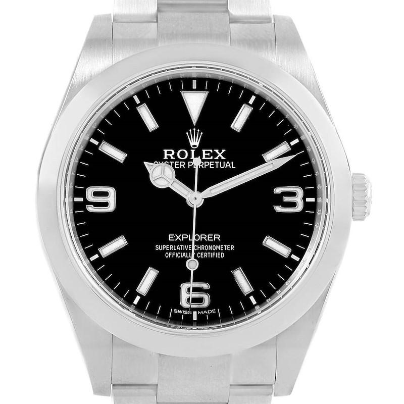 Rolex Explorer I 39mm Luminescent Arabic Numerals Mens Watch 214270 SwissWatchExpo