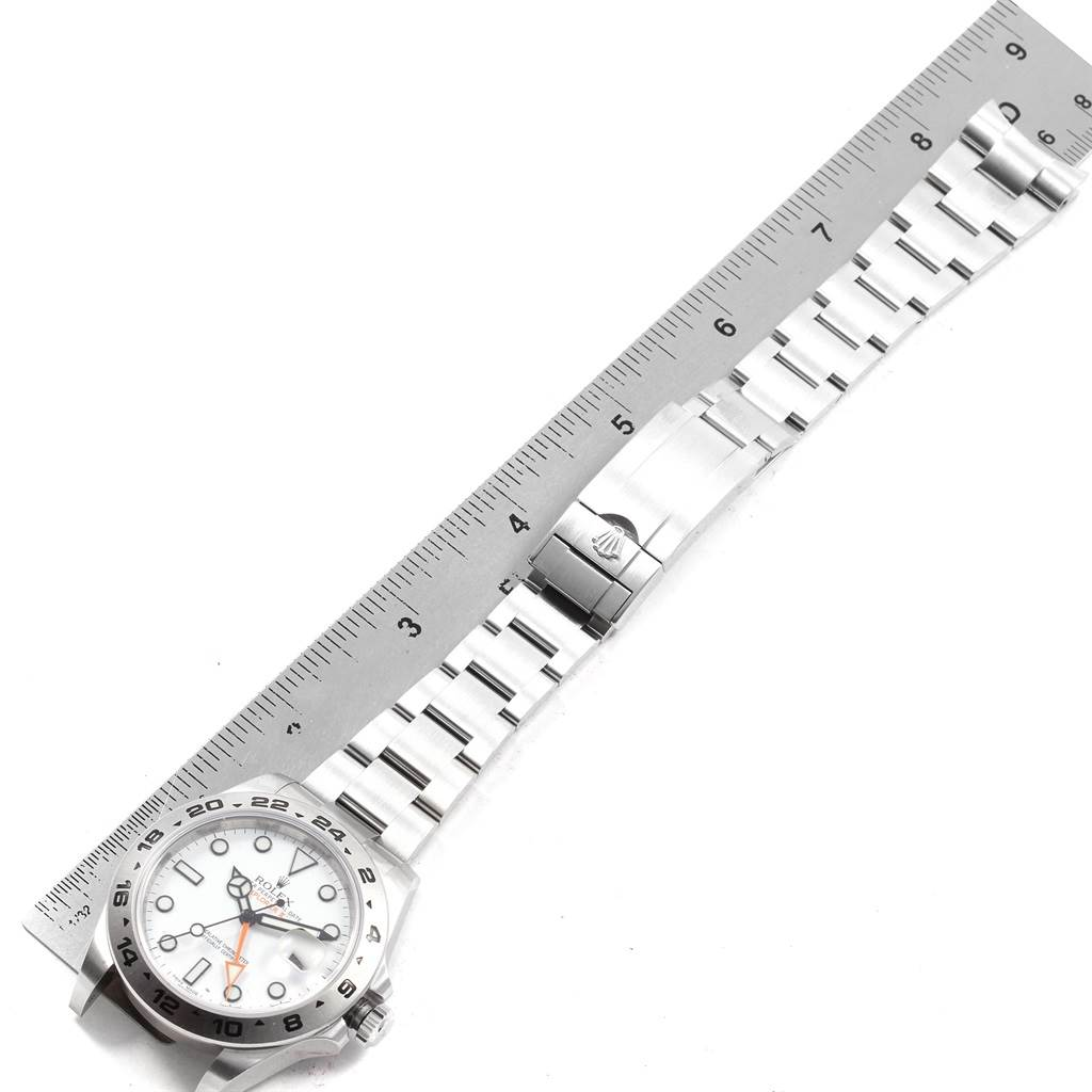Rolex Explorer II 42 Automatic Steel Mens Watch 216570 Box Card SwissWatchExpo