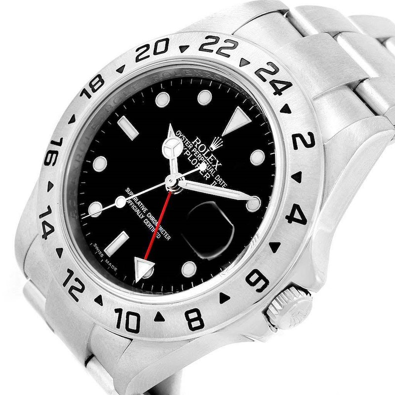 Rolex Explorer II 40 Parachrom Hairspring Steel Mens Watch 16570 SwissWatchExpo