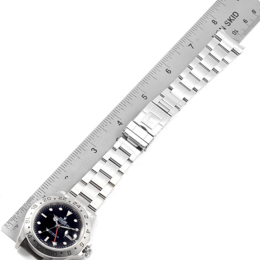 3539X Rolex Explorer II 40 Parachrom Hairspring Steel Mens Watch 16570 SwissWatchExpo