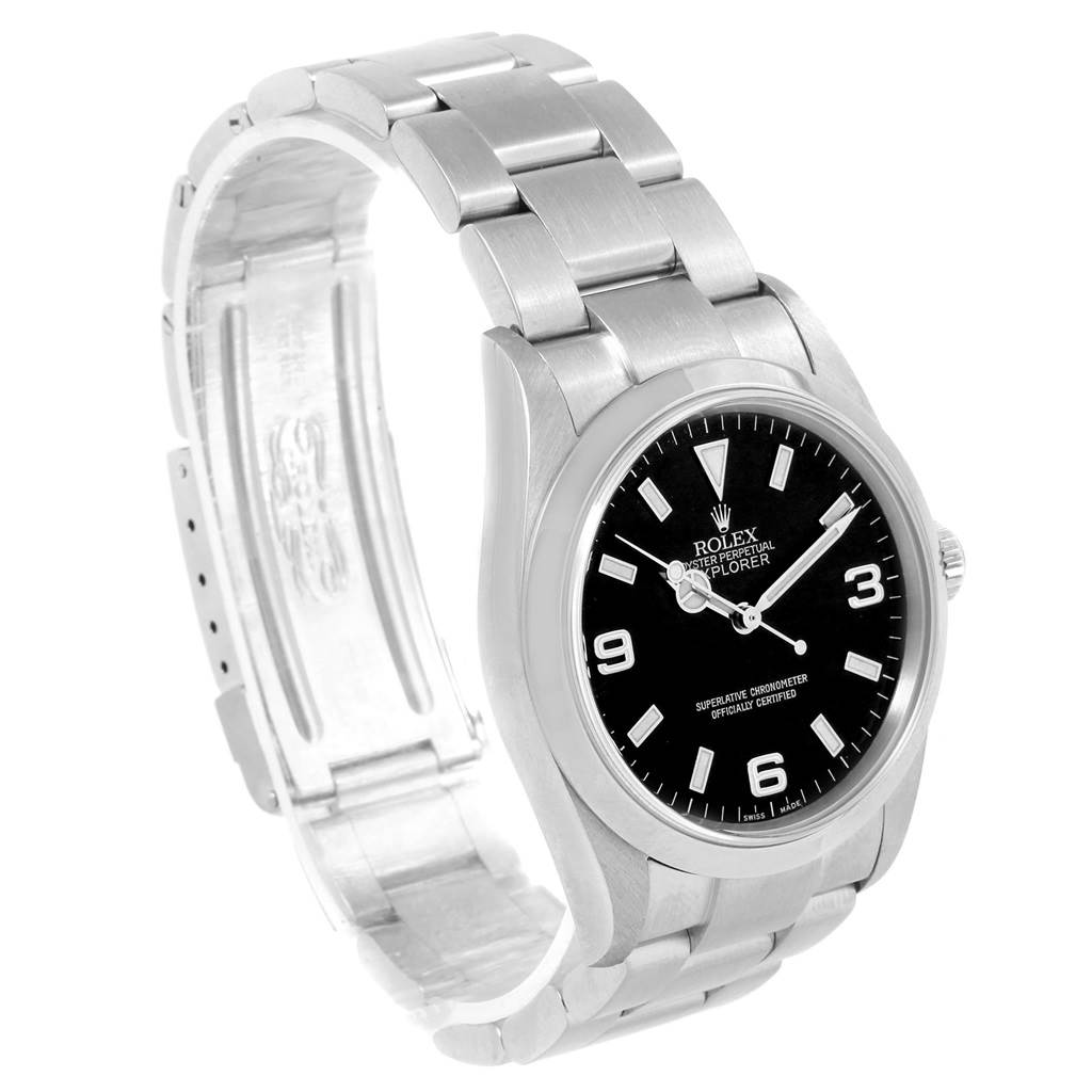 Rolex Explorer I Luminescent Arabic Numbers Steel Mens Watch 114270 SwissWatchExpo