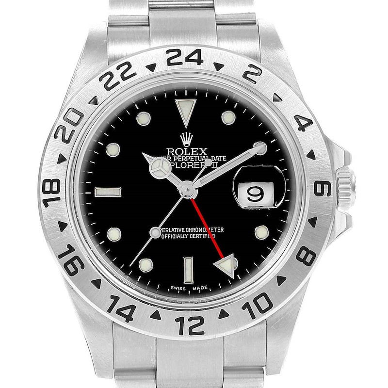 Rolex Explorer II 40 Black Dial Automatic Mens Watch 16570 Unworn SwissWatchExpo