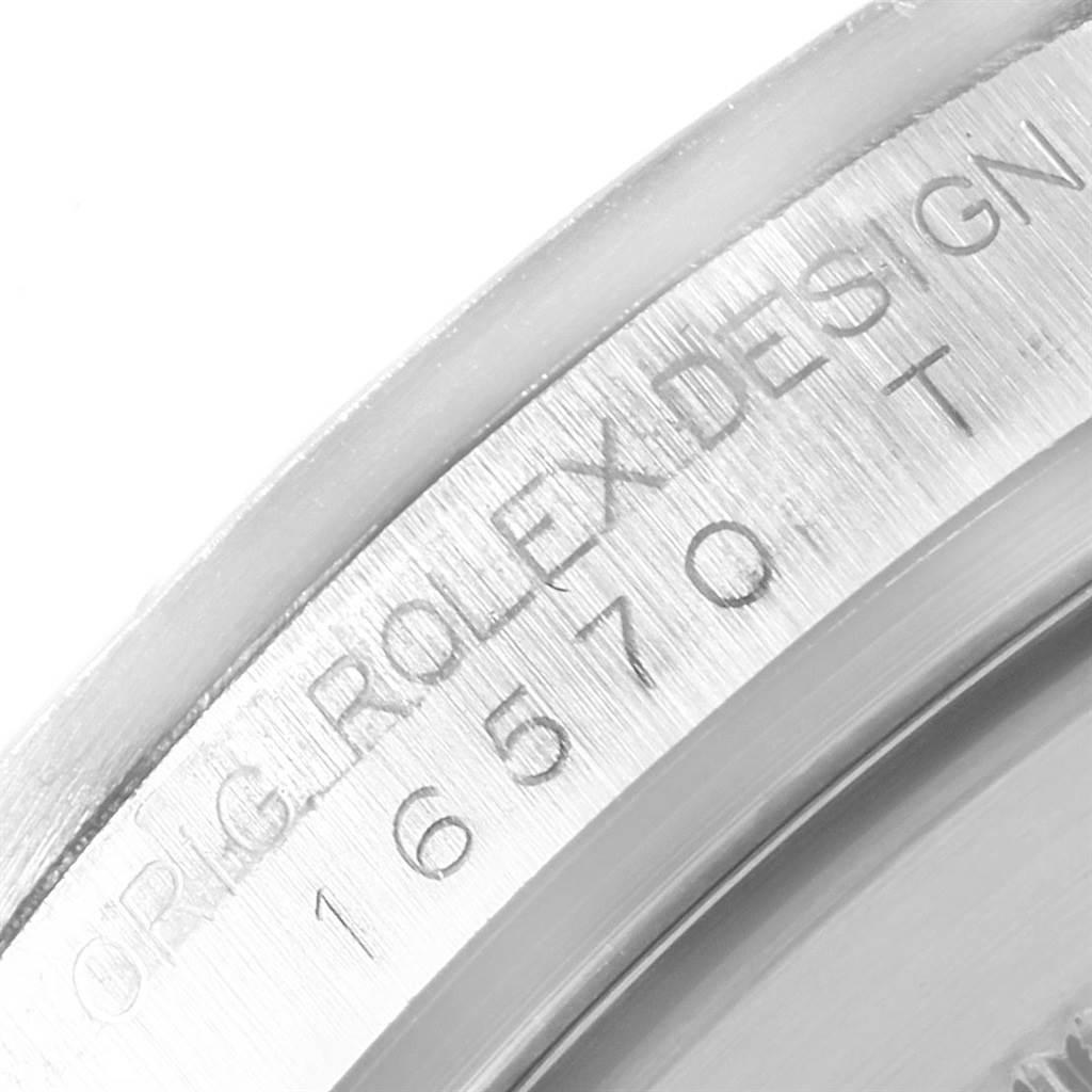 21038 Rolex Explorer II White Dial Red Hand Mens Watch 16570 Box SwissWatchExpo