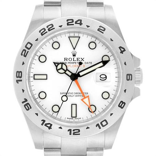 Photo of Rolex Explorer II 42 Automatic Steel Mens Watch 216570 Box Card