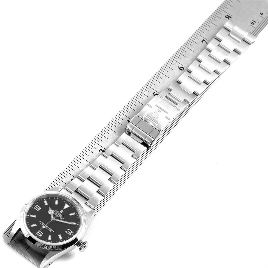 22437 Rolex Explorer I Luminescent Arabic Numerals Steel Mens Watch 114270 SwissWatchExpo
