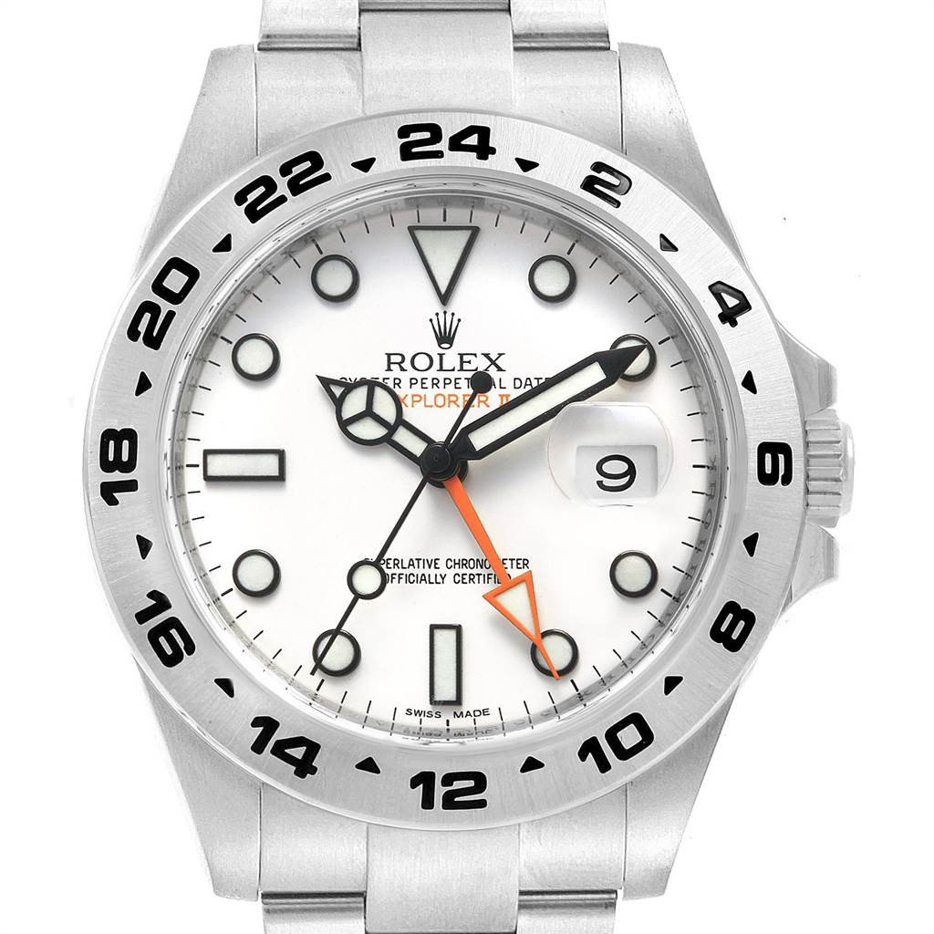 038e6e9be23 ... 23049 Rolex Explorer II 42 White Dial Orange Hand Steel Mens Watch  216570 SwissWatchExpo ...