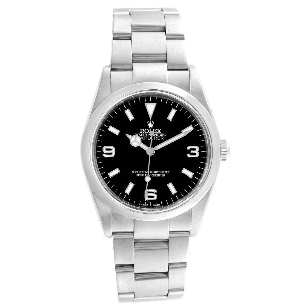 Rolex Explorer I Black Dial Steel Mens Watch 114270 SwissWatchExpo
