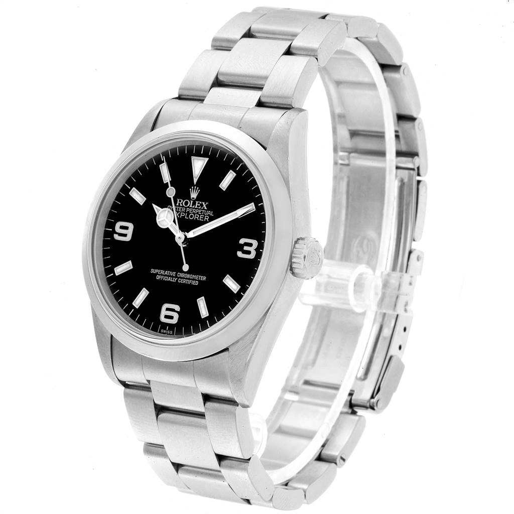 23199 Rolex Explorer I 36mm Automatic Steel Mens Watch 14270 SwissWatchExpo