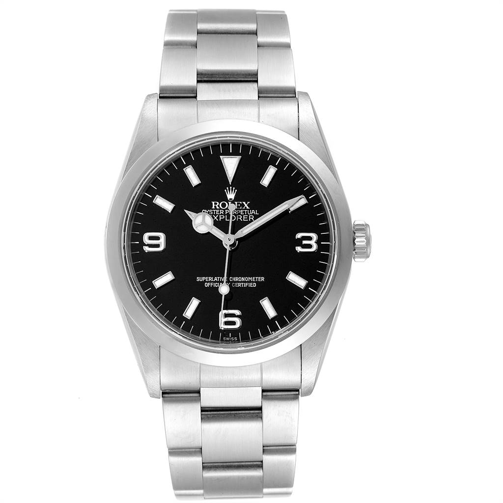 Rolex Explorer I 36mm Automatic Steel Mens Watch 14270 SwissWatchExpo