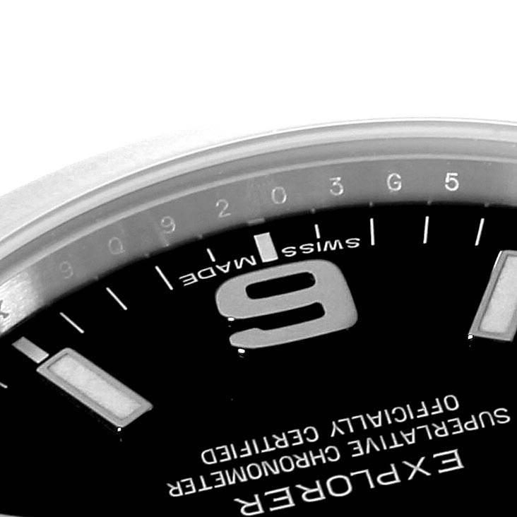 Rolex Explorer I 39mm Black Dial Steel Mens Watch 214270 Box Card SwissWatchExpo