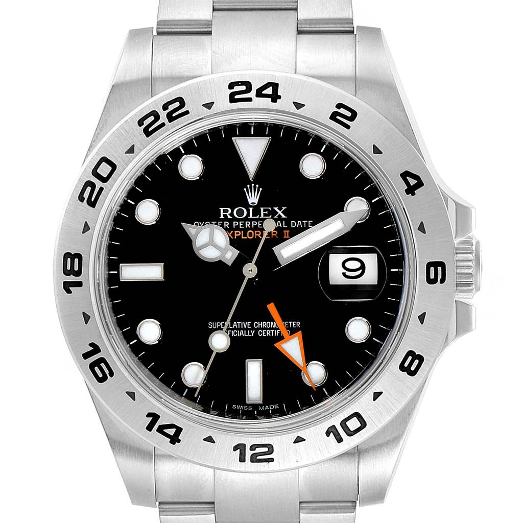 Rolex Explorer II 42mm Black Dial Steel Mens Watch 216570 Box Card SwissWatchExpo