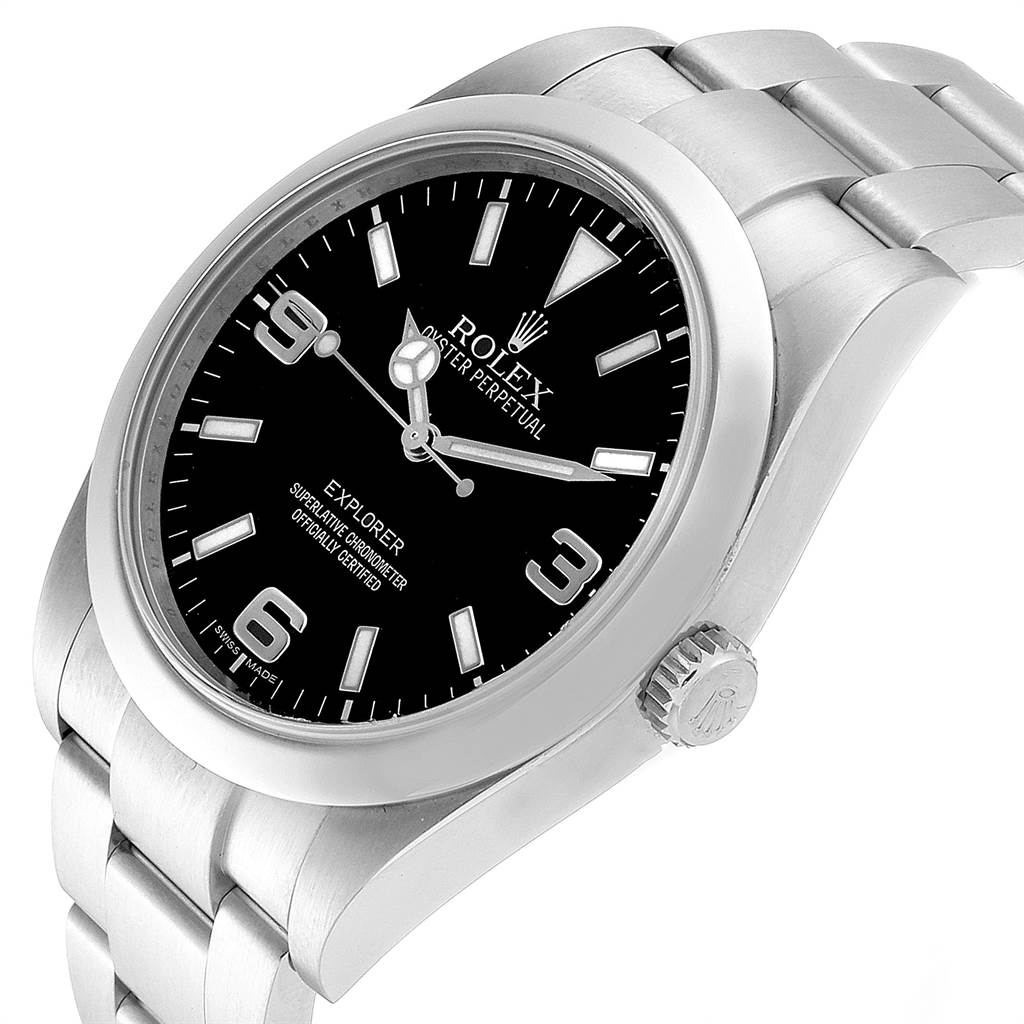 Rolex Explorer I 39 Stainless Steel Mens Watch 214270 SwissWatchExpo