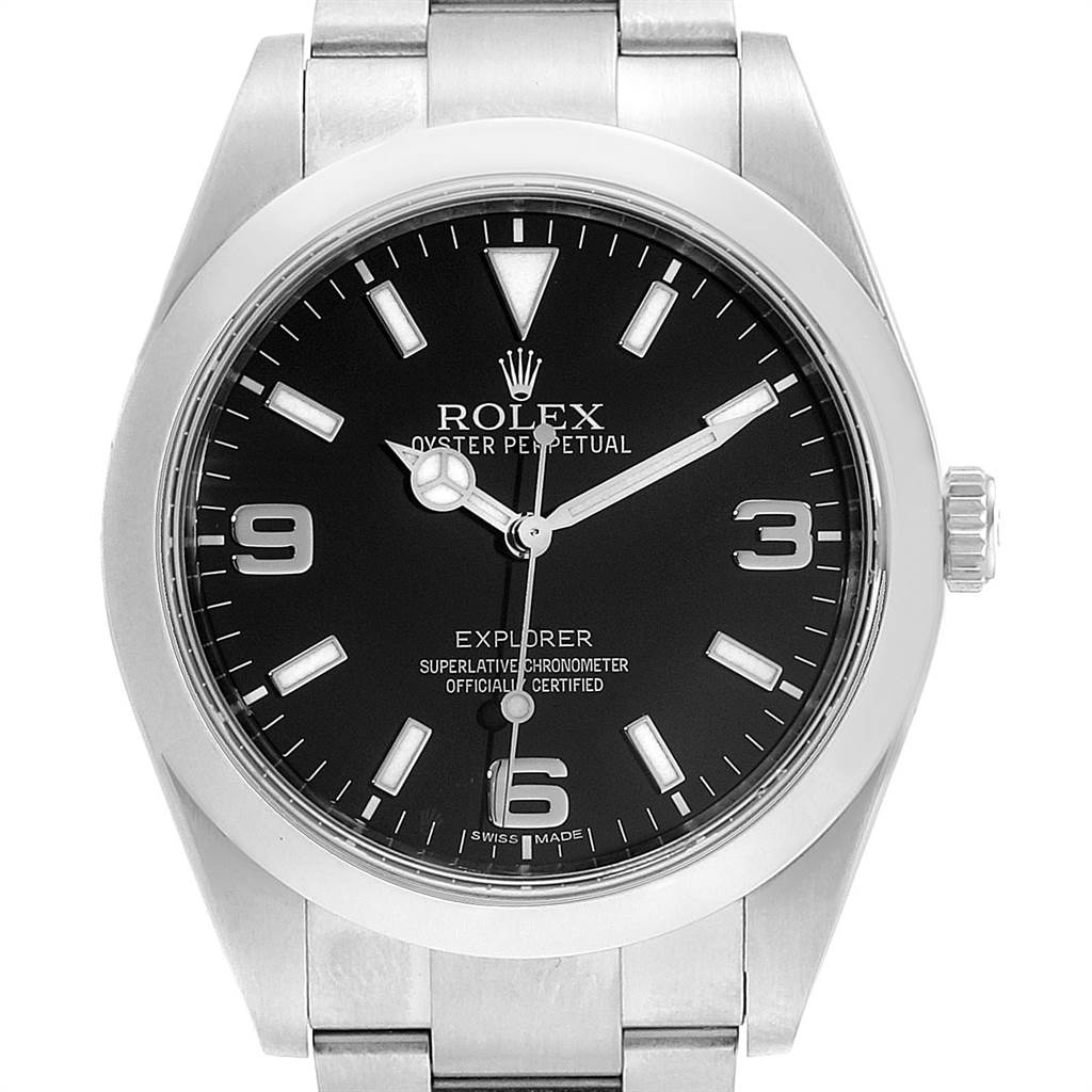 Rolex Explorer I 39 Stainless Steel Mens Watch 214270 SwissWatchExpo