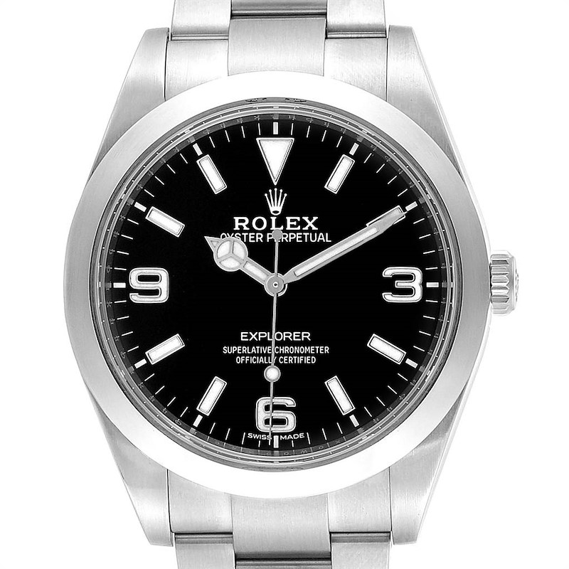 Rolex Explorer I 39 Luminescent Arabic Numerals Watch 214270 Box Card SwissWatchExpo